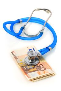 Stethoscope and money.