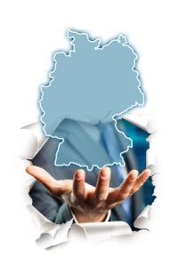 Hand präsentiert Deutschland